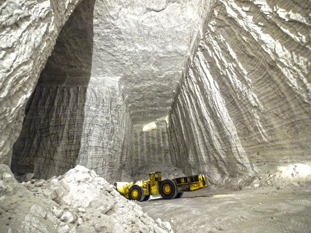 The Ontario salt mine will expand to a new level 400 feet below the mine's current depth. K+S mine in  Bernburg, Germany pictured. PHOTO: K+S