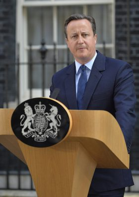 "U.K. Prime Minister David Cameron promptly announced his resignation following the ""leave"" decision. PHOTO: Number 10, via Flickr"