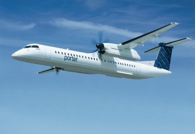 The new order will add three planes to Porter Airlines' roster, bringing the total size of the airline's fleet to 29. PHOTO: Bombardier