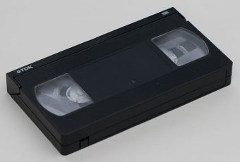 A VHS cassette widely used in VCRs to record television. PHOTO: Toby Hudson, via Wikimedia Commons