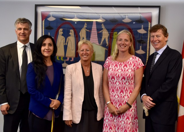 Catherine McKenna, Canada's minister of Environment and Climate Change alongside the four-person review panel. PHOTO: CEAA