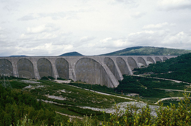 Hydro-Quebec has a long history developing major hydro projects. Daniel-Johnson Dam in central Quebec pictured. PHOTO: Michelphoto53, via Flickr