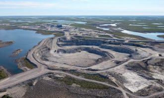 The site is the largest new diamond mine under construction anywhere in the world. PHOTO: De Beers