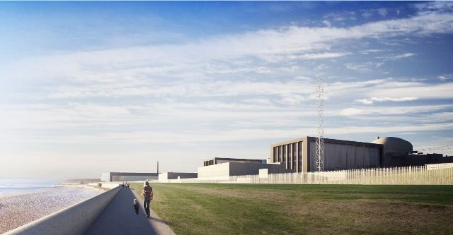 A rendering of the proposed Hinkley Point power plant approved by french energy firm EDF's board last month. PHOTO: EDF