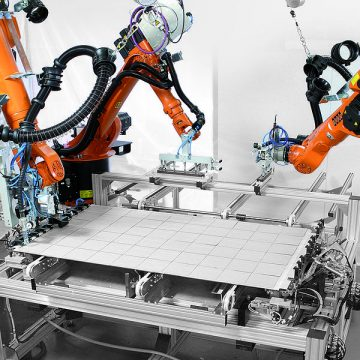 Automation is generally considered to be the third industrial revolution. PHOTO: KUKA Systems