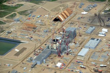 View of construction site at K+S Legacy potash mine in Saskatchewan in June of last year. PHOTO K+S Group