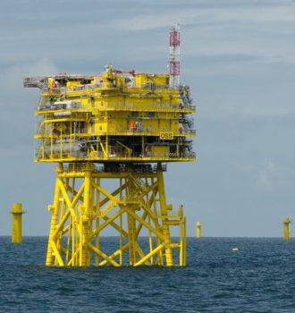 The recently-completed substation at the company's Nordsee One offshore wind project. PHOTO: Northland Power