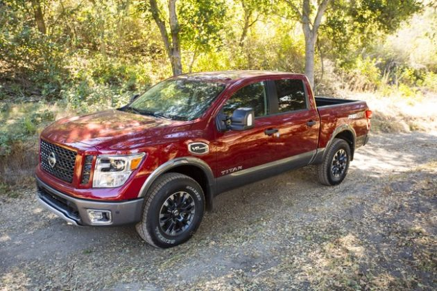 The 2017 Nissan Titan is fitted with a camera that shows rear, side views and above-the-truck views to help parking and off-road manoeuvrs. PHOTO: Nissan