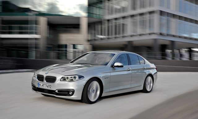 The current version of the BMW 5 Series. The vehicle is one of the most popular cars in its class. PHOTO: BMW Group