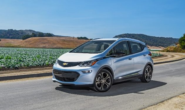 The 2017 Chevy Bolt electric vehicle