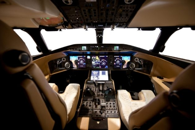 Cockpit of the Global 6000 corporate jet. PHOTO: Bombardier