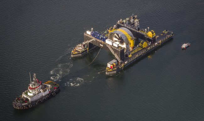 The Cape Sharp Tidal Turbine en route to Halifax Harbour earlier this year. PHOTO: Cape Sharp Tidal
