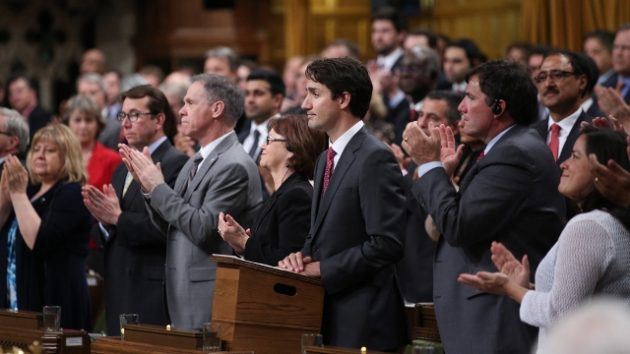 Justin Trudeau announcing the national carbon tax in the House of Commons. PHOTO: Government of Canada