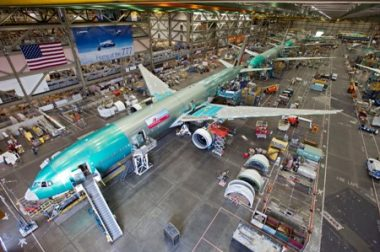 Assembly of Boeing's 777. PHOTO: Boeing