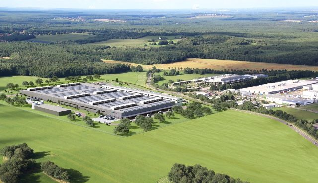A rendering of the new 80,000 square-metre (860,000 square-foot) plant in Kamenz, Germany. PHOTO: Daimler