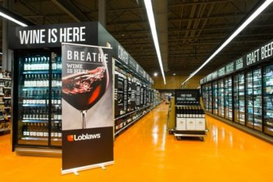 Wine has followed beer and cider onto grocery store shelves as Ontario steps up effort to liberalize alcohol sales. PHOTO: Loblaw
