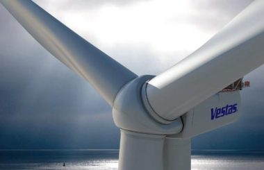 At about 720 feet hight (220 metres) the Vestas V164 is currently the world's largest turbine. PHOTO: Vestas Wind Systems A/S