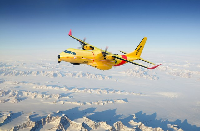The fixed-wing Airbus C295W turboprop is designed for search and rescue missions. PHOTO: Airbus Defence and Space