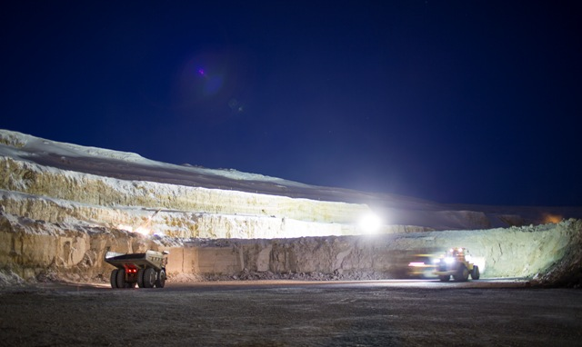 About 90 km outside the Attawapiskat First Nation, the open pit Victor Mine opened in 2008. PHOTO: De Beers