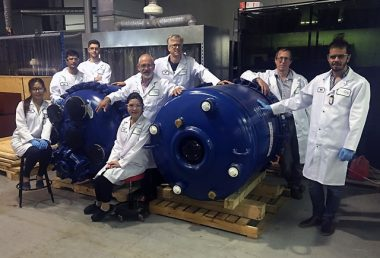 The Vancouver-based company will use pilot-scale reactor vessels to produce material for electric vehicle lithium-ion batteries. PHOTO: Nano One