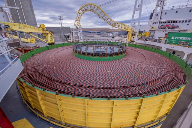 Ship Begins Laying Huge Power Cable Connecting