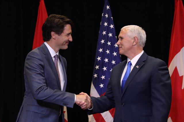Nafta agreement could come in weeks, say Pence and Trudeau