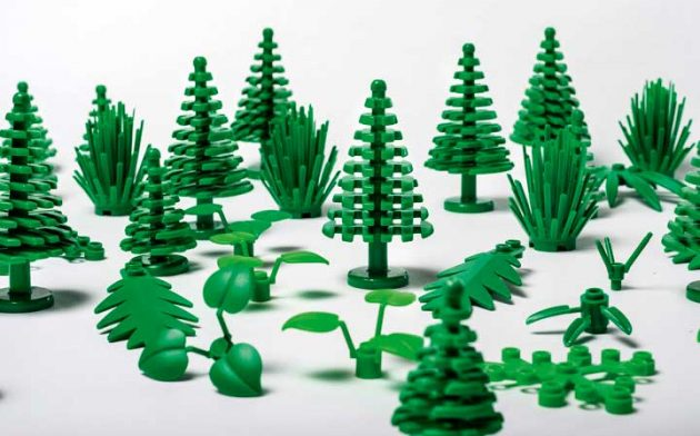 LEGO is rolling out their first plant-based plastic pieces