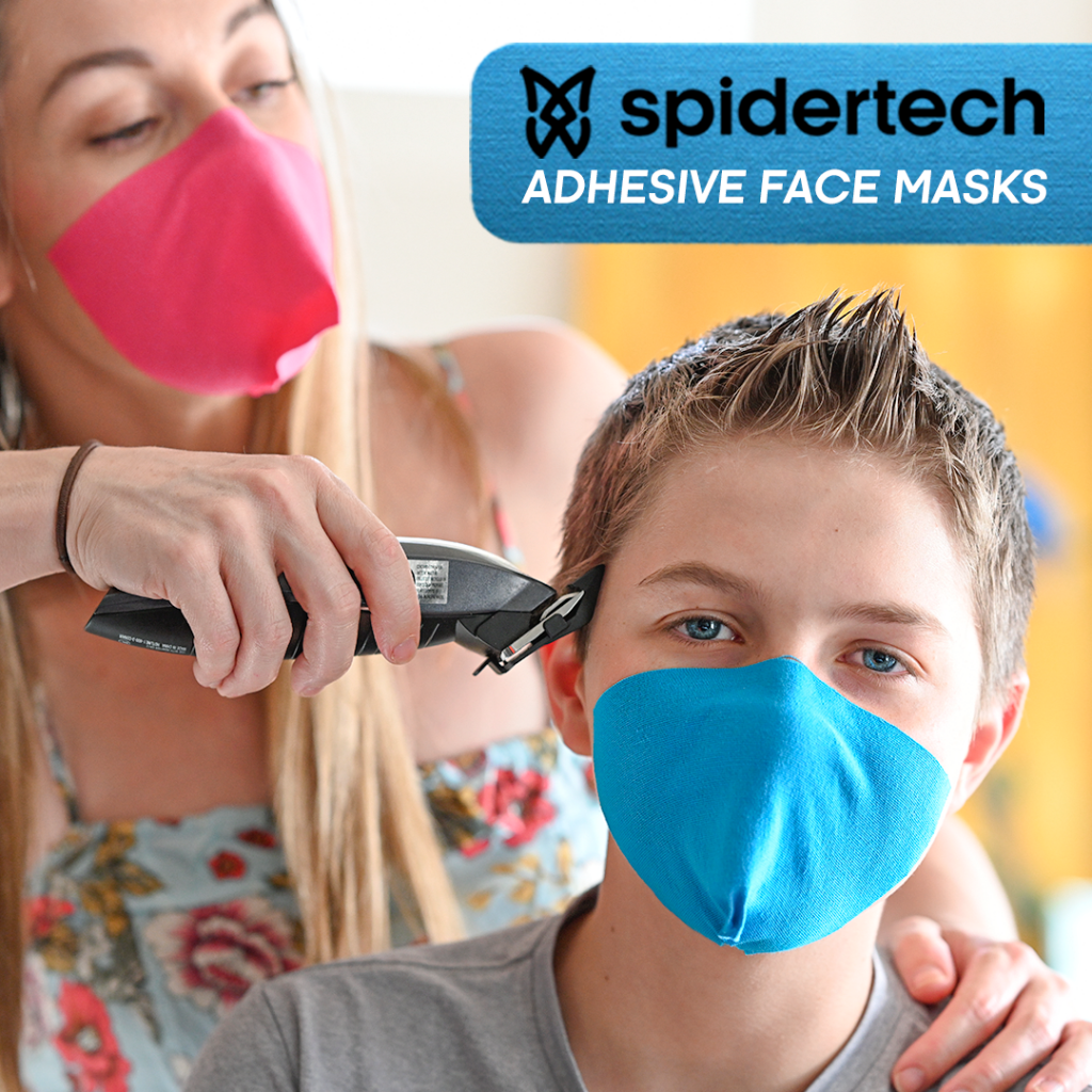 SpiderTech shifts production to make strapless face masks