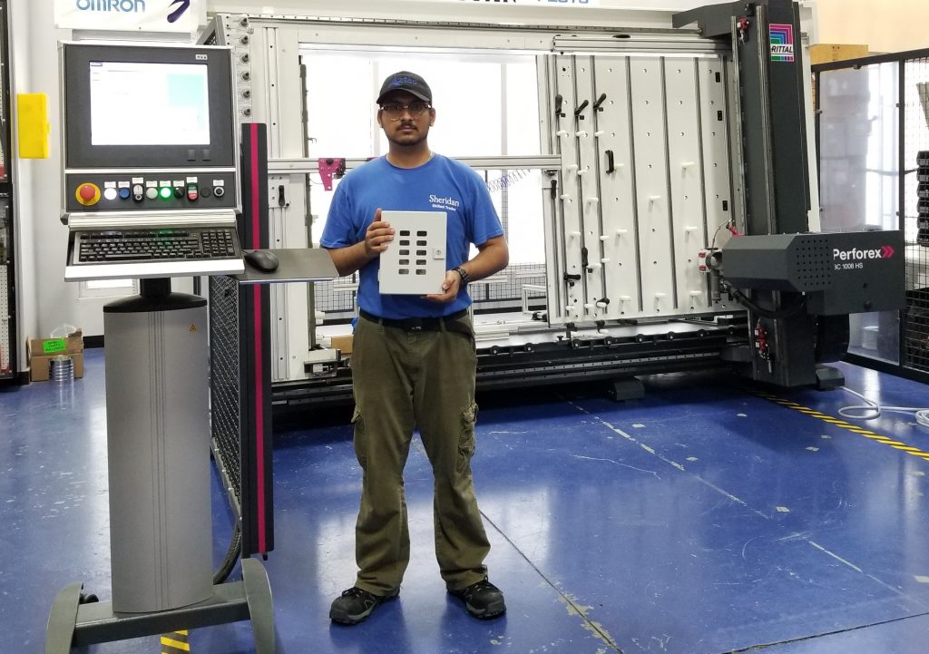 Aztec is a new Rittal modification partner with the Perforex Machining Centre