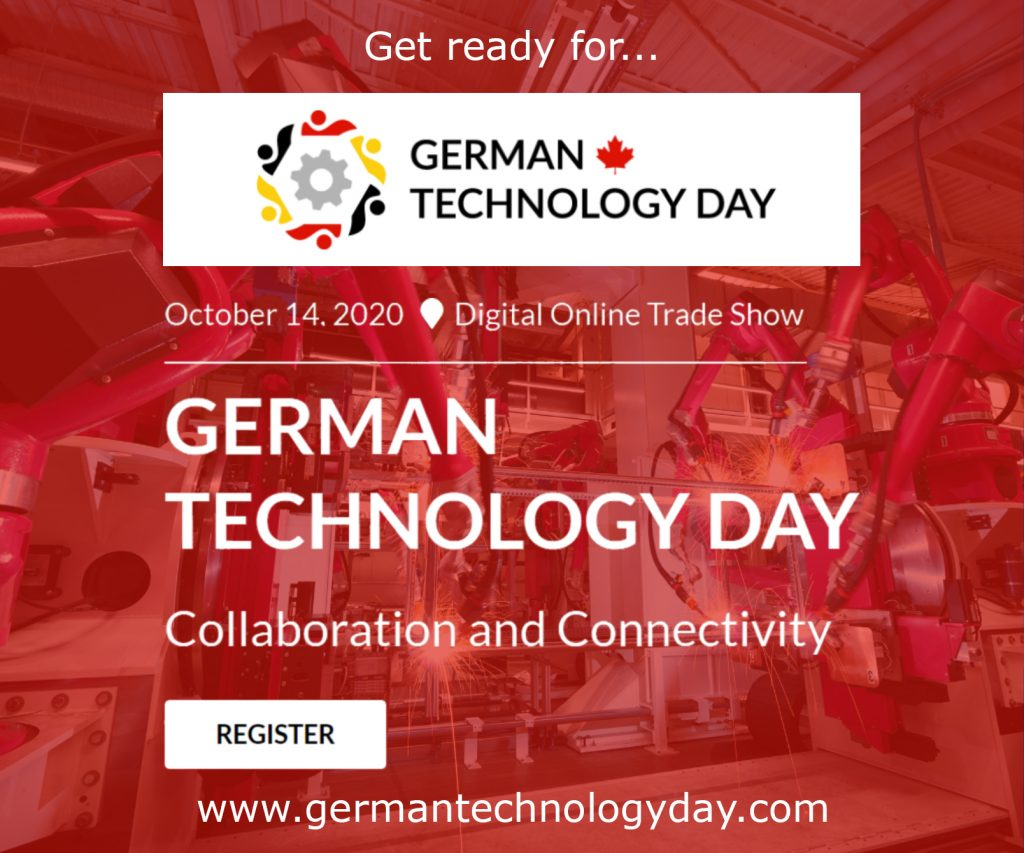 The German Technology Day Virtual Fair 2020 is coming Oct. 14
